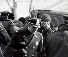 Photo Rescue and Police efforts Jan 13, 1982, Flight 90 crash into 14th Street Bridge and Potomac River, photo courtesy MPD photo archive